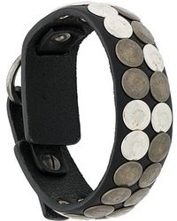 DIESEL - Studded Leather Bracelet - Lyst