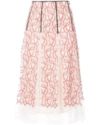 Giambattista Valli - Embroidered Floral Skirt - Lyst