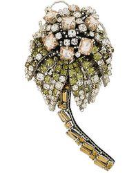 N°21 - Palm Tree Embellished Brooch - Lyst