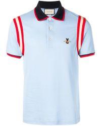 6fbaf4f4da3 Gucci Animalium Polo Shirt in White for Men - Lyst