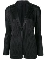 Pleats Please Issey Miyake - Pleated Single-breasted Blazer - Lyst