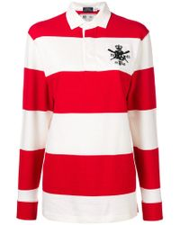 Polo Ralph Lauren - Striped Long-sleeve Polo Top - Lyst