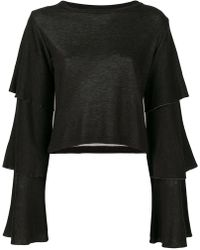 Dondup - Layered Sleeves Blouse - Lyst