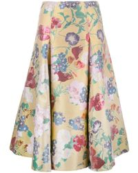 Valentino - Floral Brocade Skirt - Lyst