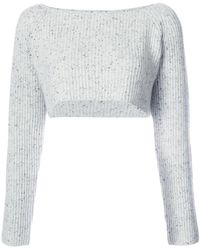 Baja East - Cropped Ribbed Jumper - Lyst