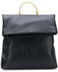DKNY - Logo Embossed Backpack - Lyst