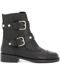 RED Valentino | Studded Strap Boots | Lyst