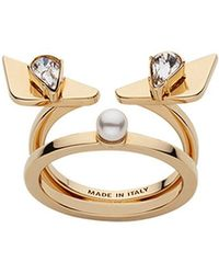 Fendi - Crystal Wonders Ring - Lyst