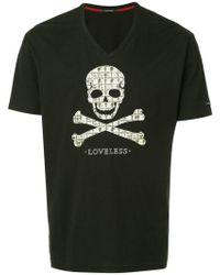 Loveless - Skull And Crossbones Print T-shirt - Lyst