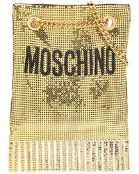 Moschino - Metallic Clutch Bag - Lyst