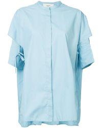 Ports 1961 - Mandarin Collar Layered Shirt - Lyst