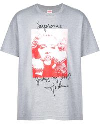 15b1a701 Supreme Madonna T-shirt 'fw 18' in Blue for Men - Lyst