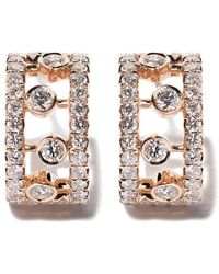 De Beers - 18kt Rose Gold Dewdrop Diamond Earrings - Lyst