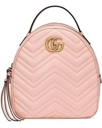 Gucci - Marmont Quilted Leather Backpack - Lyst