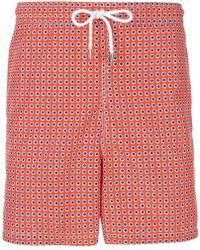 Kiton - Dot Print Swim Shorts - Lyst