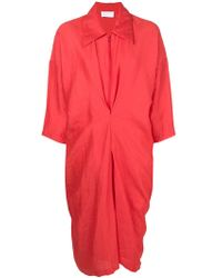 Reality Studio - Ruched Detail Shirt Dress - Lyst