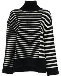 Juun.J - Asymmetric Striped Wool-blend Jumper - Lyst