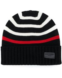 f6d464a15d2f0 Saint Laurent Striped Knitted Beanie