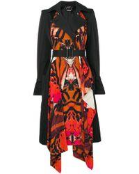 Alexander McQueen - Butterfly Print Trench Coat - Lyst
