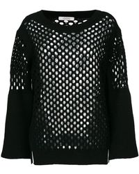 Dorothee Schumacher - Knitted Mesh Top - Lyst