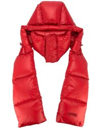 Juun.J Padded Hooded Scarf - Red