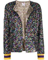 Ultrachic - Sequin Embellished Bomber Jacket - Lyst