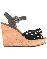 Dolce & Gabbana - Polka-dot Wedge Sandals - Lyst