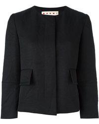 Marni | Double-face Crepe Jacket | Lyst