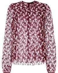 Giambattista Valli Embroidered Flower Shirt