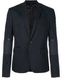 Les Hommes - Zip Sleeved Blazer - Lyst