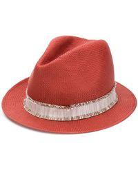 Fabiana Filippi - Frayed Strap Woven Hat - Lyst