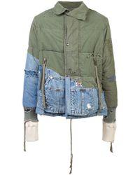 Greg Lauren - Distressed Hooded Jacket - Lyst