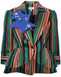 Delpozo - Peaked Lapels Striped Blazer - Lyst