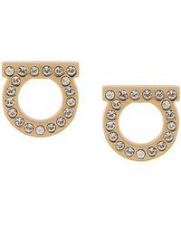 Ferragamo - Gancini Embellished Earrings - Lyst