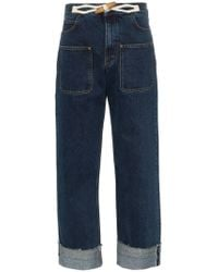 JW Anderson - High-waisted Wide-leg Jeans - Lyst