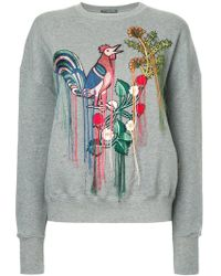Alexander McQueen - Embroidered Sweatshirt - Lyst