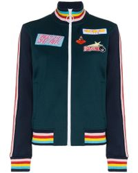 Mira Mikati - Embroidered Patch Bomber Jacket - Lyst