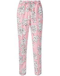 Liu Jo - Floral Print Trousers - Lyst