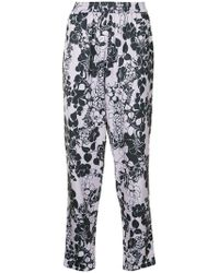 LAYEUR - Printed Tapered Trousers - Lyst