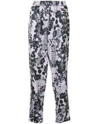 ‎LAYEUR‎ - Printed Tapered Trousers - Lyst