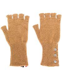 Thom Browne - Fingerless Gloves In Camel Hair - Lyst