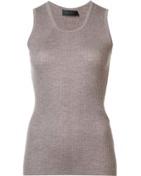 Calvin Klein - Ribbed Cashmere Tank - Lyst