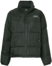 Obey - Cropped Padded Jacket - Lyst