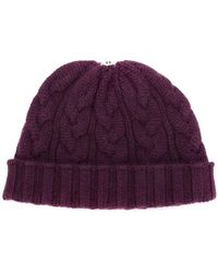 N.Peal Cashmere - Pom-pom Knitted Beanie Hat - Lyst