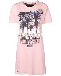 Philipp Plein - Printed T-shirt Dress - Lyst