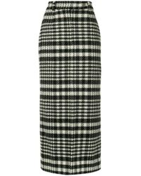 Dalood - Houndstooth Pencil Skirt - Lyst