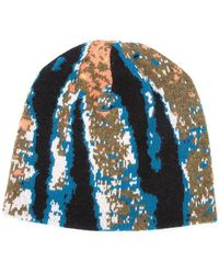 Baja East - Abstract Tiger Stripe Beanie - Lyst