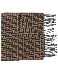 Fendi - Ff Logo Knit Scarf - Lyst