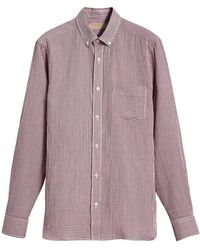 155fb8f1 Lyst - Burberry Brit Button Down Shirt in Blue for Men