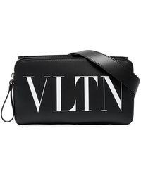 Valentino - Vltn Print Leather Belt Bag - Lyst